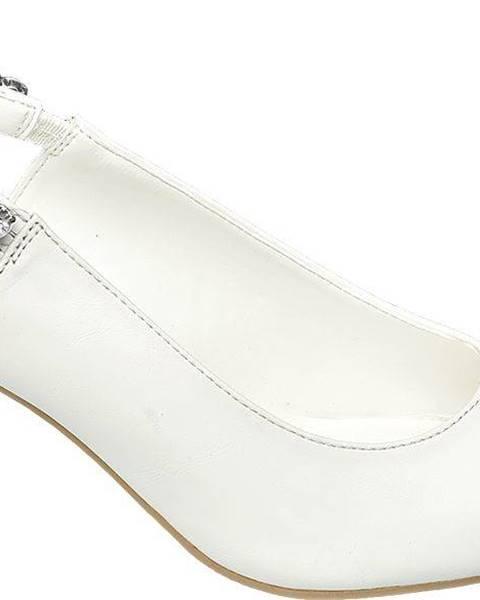 Biele lodičky Catwalk
