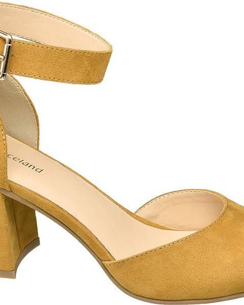 Žlté sandále Graceland