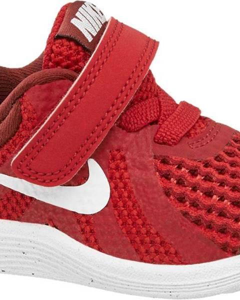Nike  NIKE - Červené tenisky na suchý zips Nike Revolution 4