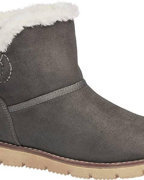 Sivé čižmy Tom Tailor