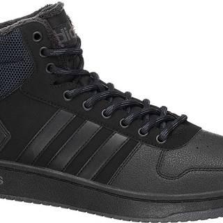 adidas - Čierne členkové tenisky Adidas Hoops 2.0 Mid