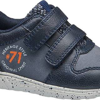 Bobbi-Shoes - Modré tenisky na suchý zips Bobbi Shoes