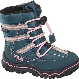 Fila - Zelenomodrá zimná obuv s TEX membránou Fila