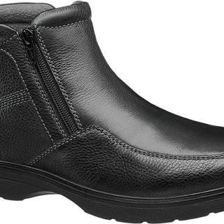 Gallus - Čierna kožená členková obuv Gallus s TEX membránou