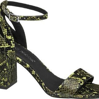 Čierno-zelené sandále so zvieracím vzorom Vero Moda