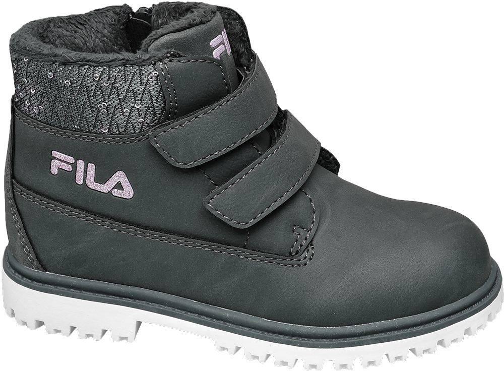 Fila Fila - Sivá členková obuv na zips Fila