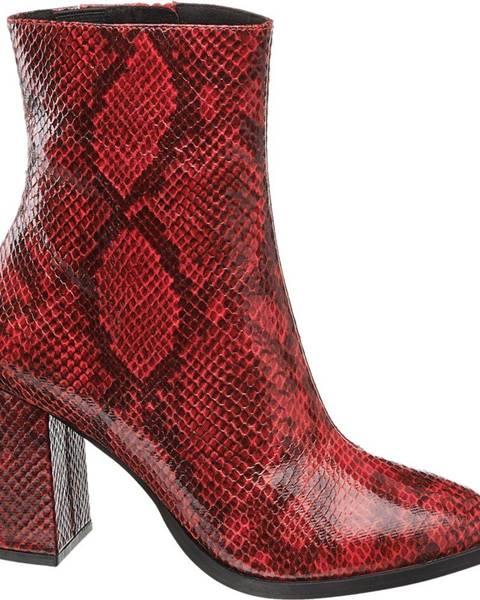 Červené čižmy Vero Moda