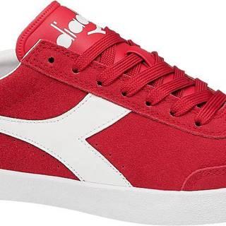 Diadora - Červené kožené tenisky Diadora Pitch