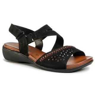 Sandále GO SOFT WI16-ANYA-01 koža(useň) leštená,koža(useň) zamšová
