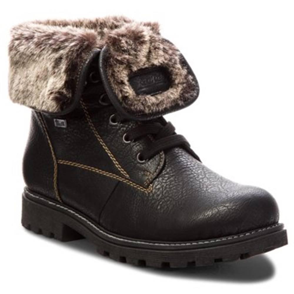 Rieker Šnurovacia obuv Rieker Z1418-00 Ekologická koža/-Ekologická koža