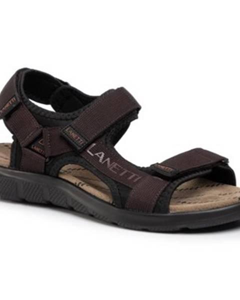 Hnedé sandále Lanetti