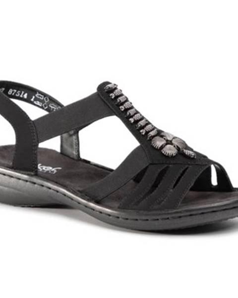 Čierne sandále Rieker