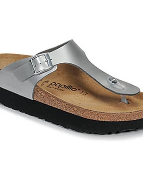 Strieborné topánky Papillio