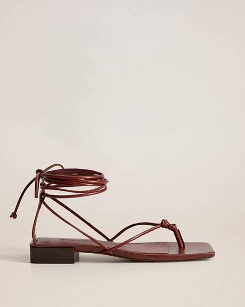 Vínové sandále mango