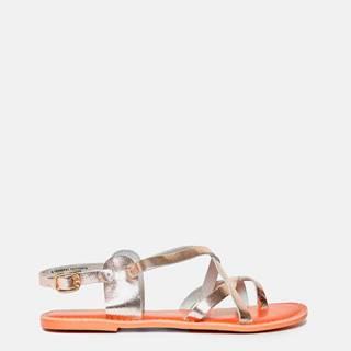 Kožené sandále v zlatej farbe Dorothy Perkins