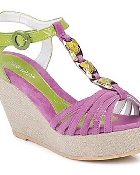 Fialové sandále Regard