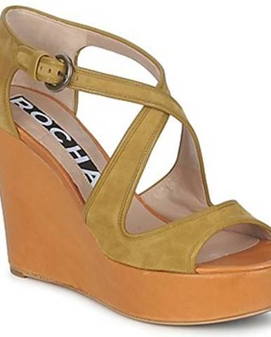 Hnedé sandále Rochas