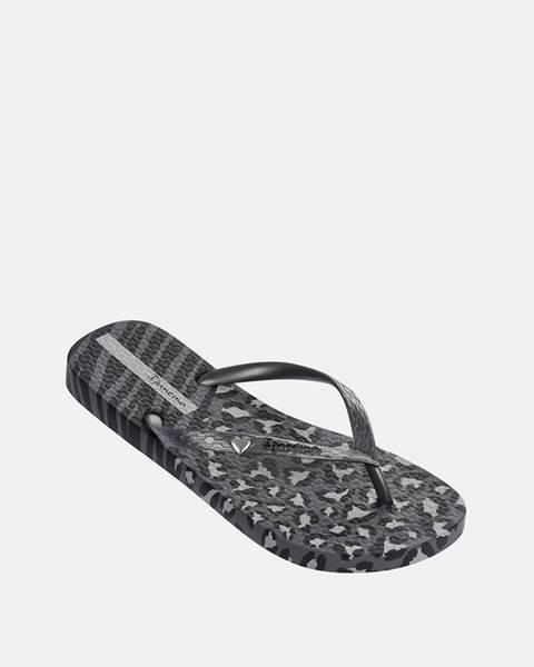Tmavosivé papuče Ipanema