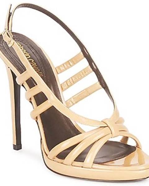 Béžové sandále Roberto Cavalli