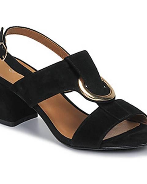 Čierne sandále Moony Mood