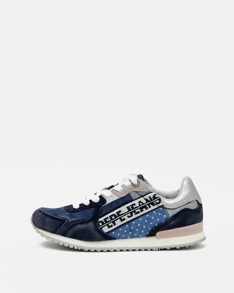 Modré tenisky Pepe jeans