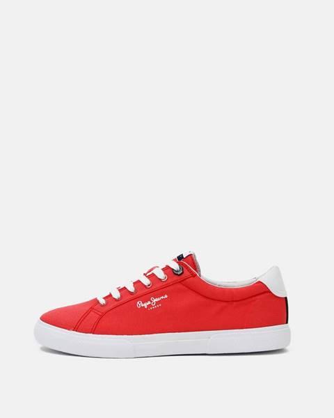 Červené tenisky Pepe jeans