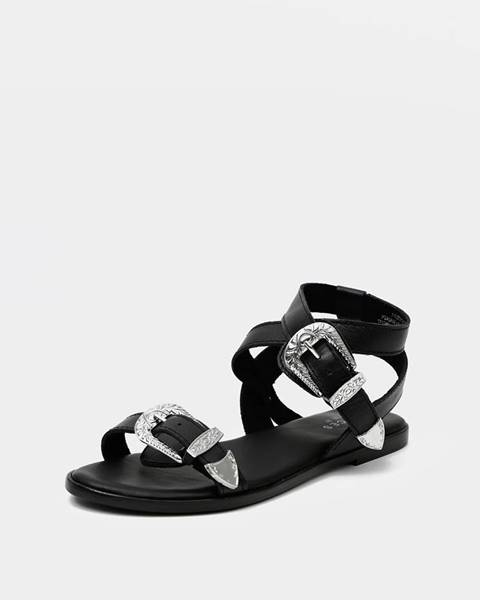 Čierne sandále Pieces