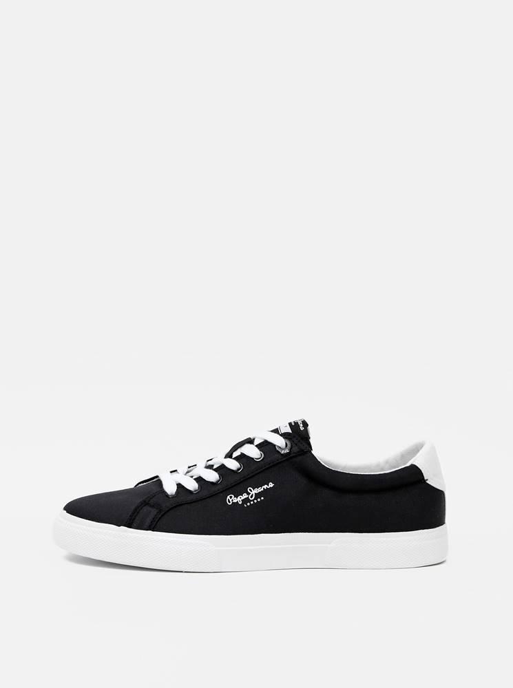 Pepe jeans Čierne pánske tenisky Pepe Jeans
