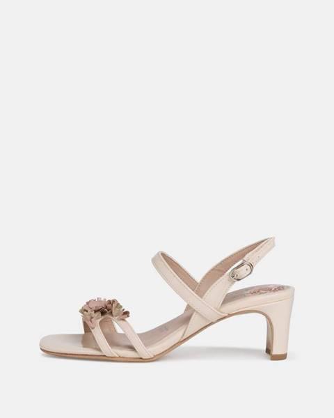 Krémové topánky Tamaris