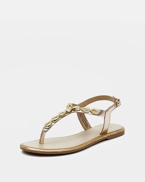 Zlaté sandále Pieces