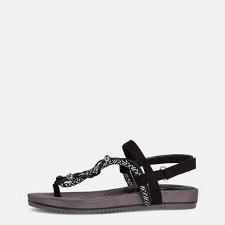 Čierne sandále s ozdobnými detailmi Tamaris
