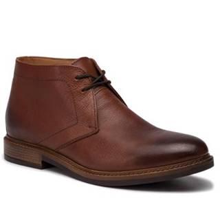 Šnurovacia obuv Gino Rossi MI08-C641-639-04 Prírodná koža(useň) - Lícova