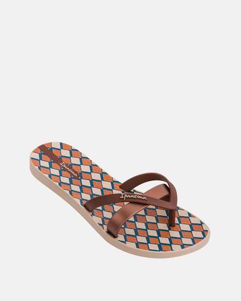 Hnedé papuče Ipanema