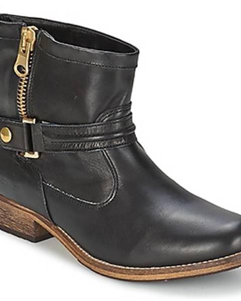 Čierne polokozačky Nome Footwear