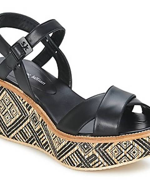 Čierne sandále Stéphane Kelian