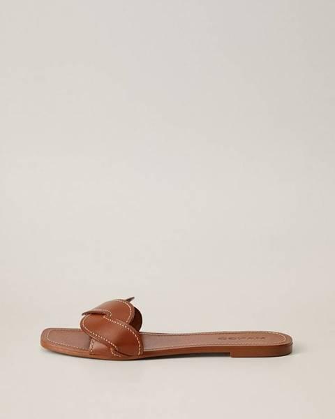 Hnedé papuče mango