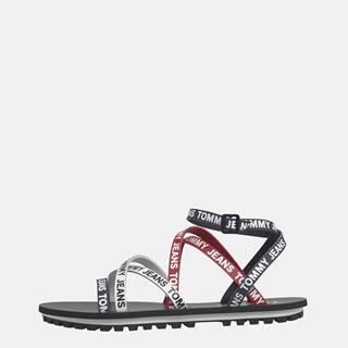 Červeno-modré dámske kožené sandále Tommy Hilfiger