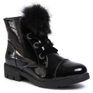 Šnurovacia obuv Jenny Fairy WS9781-02C So srsťou,koža ekologická