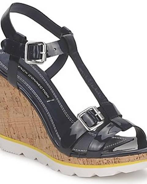 Čierne sandále French Connection