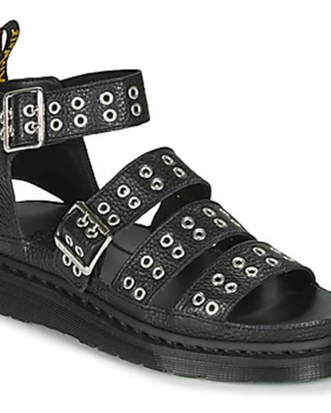 Čierne sandále Dr Martens