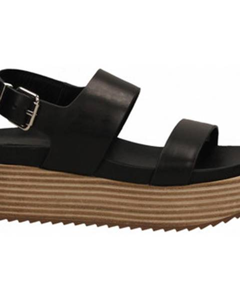 Čierne sandále Rahya Grey