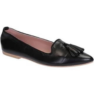 Balerínky/Babies Leonardo Shoes  117-20 CUOIO NAPPA NERO