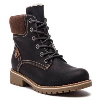 Šnurovacia obuv Clara Barson WS722-32 filc,koža ekologická