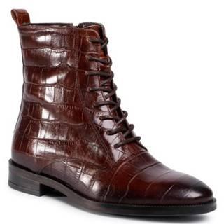 Šnurovacia obuv Gino Rossi I020-30124DUL Prírodná koža(useň) - Lícova